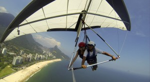 Hang-gliding over Rio de Janeiro