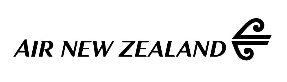 Air NZ Wordmark- BLK on White